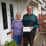 The lucky couple who won the iPad
